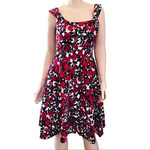 White House Black Market Fit & Flare Floral Dress